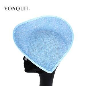 Image 2 - New Colors 30 CM Big Imitation Sinamay Fascinator Bases For Sposa Wedding Millinery Hats DIY Hair Accessories 5Pcs/Lot SYB05