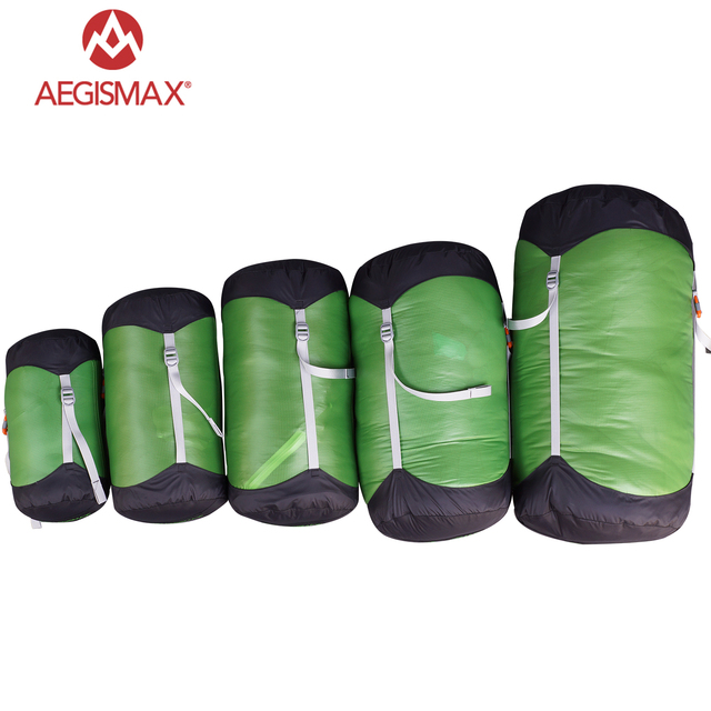 AEGISMAX Outdoor Sleeping Bag Pack Compression Stuff Sack Storage Carry Bag Sleeping Bag Accessories Camping Hiking Outdoor