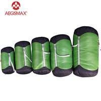 Aegismax saco de dormir ao ar livre pacote de compressão material saco de armazenamento transportar saco de dormir acessórios acampamento caminhadas ao ar livre