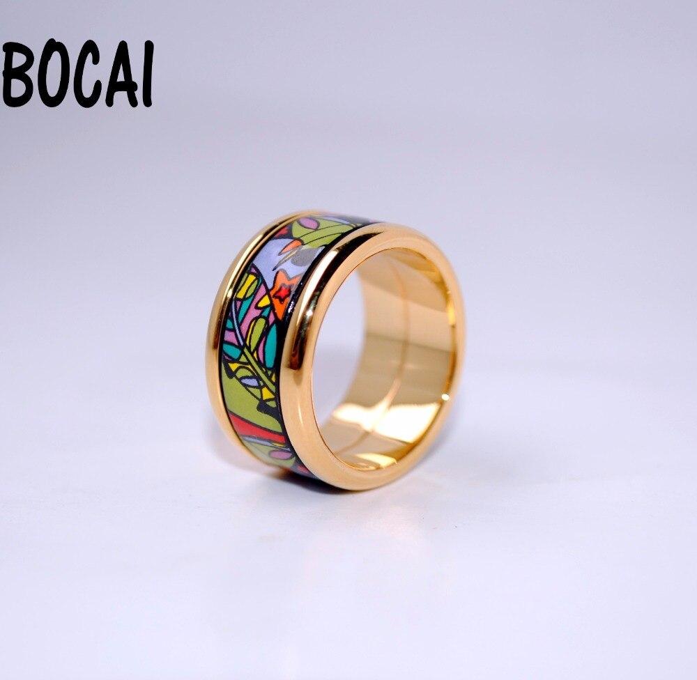 Cloisonné émail circulaire bijoux de mode plaqué or anneaux