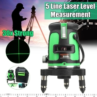 5 Line 3D Laser Leveler 360 Self Leveling Vertical Horizontal Level C ross Powerful Laser Beam Line