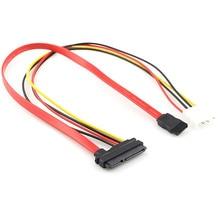 7 + 15 22Pin seri ATA SATA IDE 4P sabit disk güç adaptörü kablosu yeni kurşun kablo molex sata güç adaptörü # T2