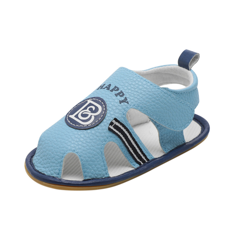 ARLONEET Baby Sandals Girl Boy Roman Crib Shoes Soft Sole Anti-slip Letter Sandals Shoes 0 to 18 Months Drop Shipping 30S430