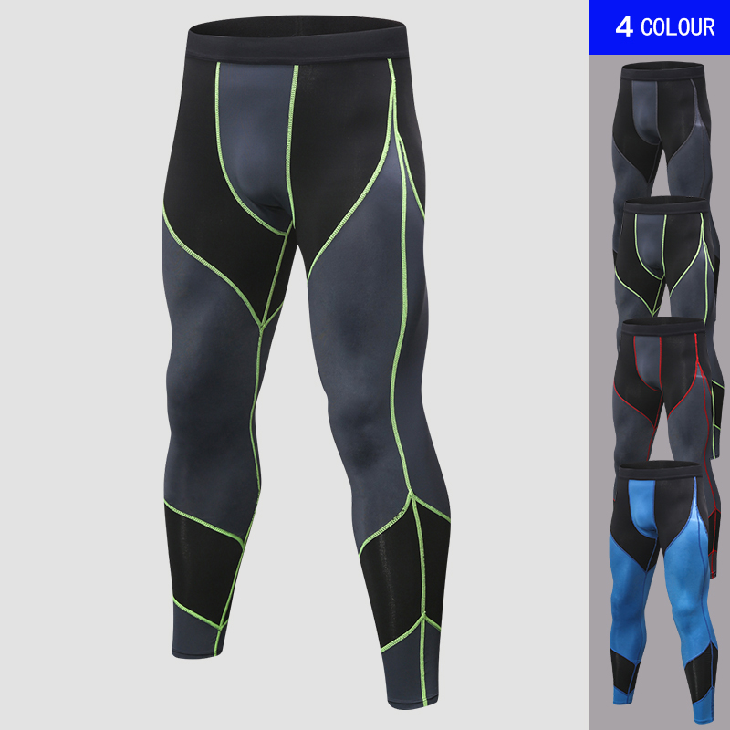 Image 2 - 2019 New Quick Dry Pants Outdoor Leisure Bodybuilding Sportswear Gym Clothing Sweat Mens Black Sport Trouser Leggings Running-in Running Pants from Sports & Entertainment on AliExpress