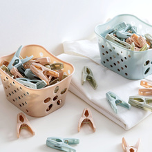 30pcs Clothespin Plastic Baskets Multi-Purpose Fixed Socks Clip Quilt Windproof Clips Practical Household Supplies