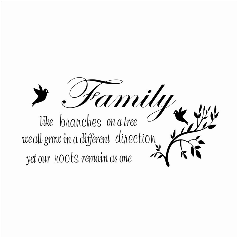 Family Like Branches On The Tree Quotes Removeable Wall Stickers