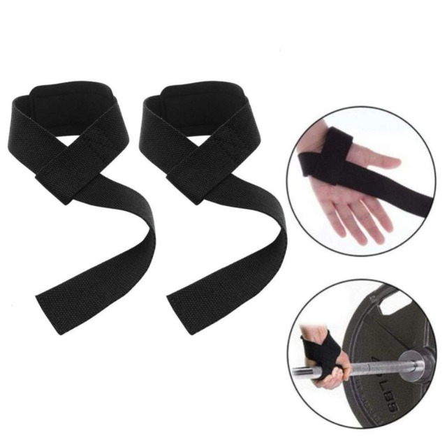 2Pcs Crossfit Gloves Weightlifting Straps Gym Fitness Wrist Wrap Bodybuilding Dumbbell Barbell Exercise Training Tool Equipment