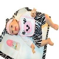 Reborn куклы младенца спящего ребенка жизнь, как Реалистичная полный силиконовые винила тела 55 см