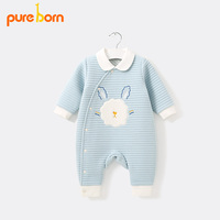 Pureborn Baby Clothes Baby Romper Cotton Clothing For Newborns Jumpsuit Coverall Baby Costume Girls Boys Cartoon One Piece