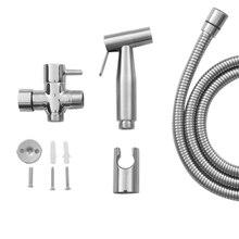 1 Set Stainless Steel Hand Bidet Handheld Sprayer Faucet for Bathroom Shower Spray Decor