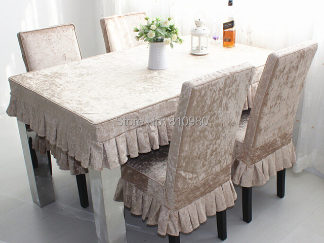 Sure Fit Cotton Dining Room Chair Slipcover High Grade Ice Velvet Seat Cover Beige Please Measure Your