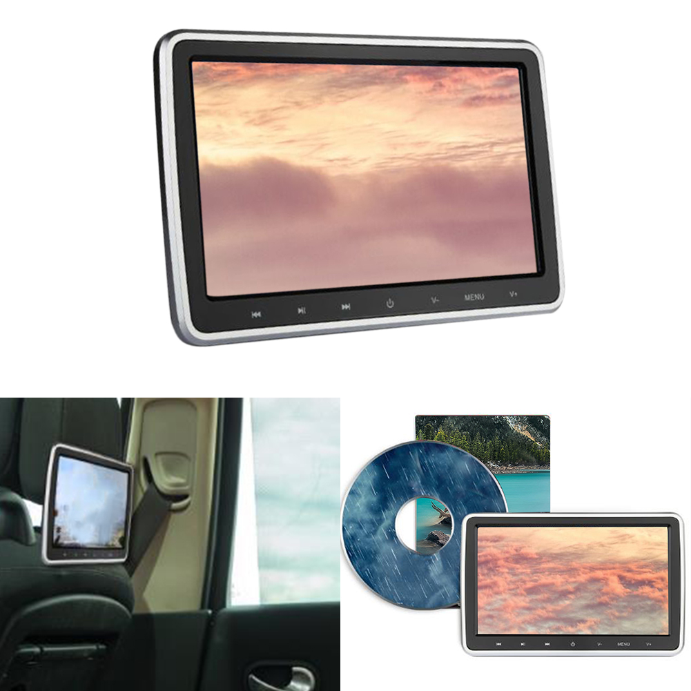 DVD Player Accessories Universal Digital Screen Plug And Play Rear Seat Monitor 10.1 Inch Car Headrest Tablet Style Video Media
