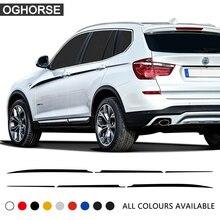 2X M, наклейка на дверь, боковой акцент, верхняя полоска, линия талии, графическая наклейка, виниловое украшение для BMW X3 M F25