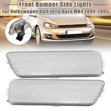 Пара переднего бампера боковые габаритные огни поворотов индикаторная лампа для VW для Volkswagen Golf Jetta MK4 1999-2005 мигалка
