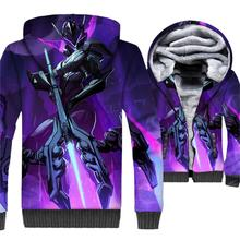 Competitive game funny men 3D prints coat 2018 winter casual thick zip novelty hoodies hot sale hip-hop harajuku jackets coats