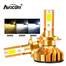Avacom 2 pcs h4 led h7 Car Headlight Bulbs Kit LED 3000K 6500K 8000K 72W 8000LM H1 H11 9005 HB3 9006 HB4 H8 H9 Auto Headlamp(China)