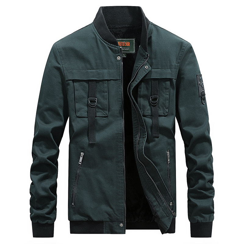 ZDJP 2018 New JEEP Winter Cotton jacket men Plus Size 4XL brand clothing Plus velvet warm coat male jacket clothes