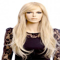 fast shipping 70 cm women's cheap party wigs long blonde wig curly Oblique bangs Anime Cosplay wig heat resistant synthetic wigs