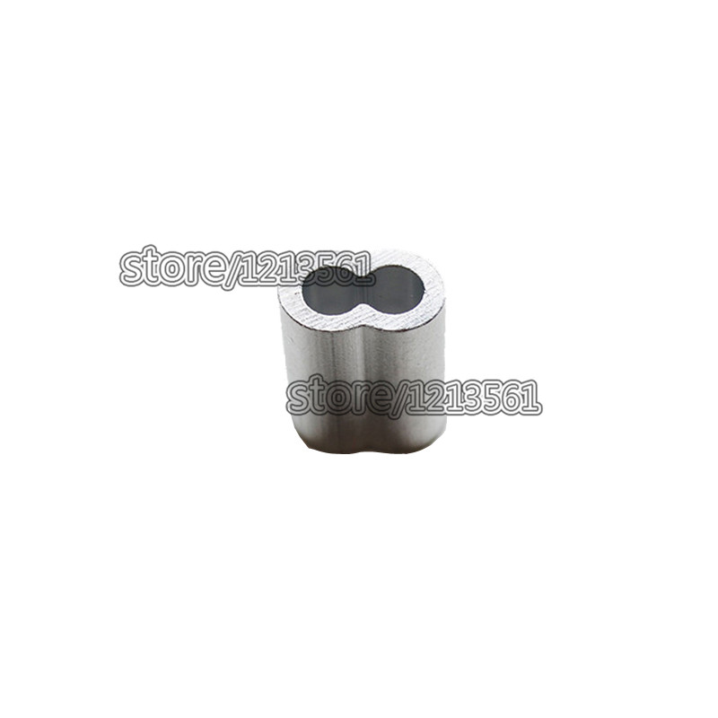 4mm Aluminum Cable Crimp Sleeve Cable Ferrule Stop for Snare Wire ...