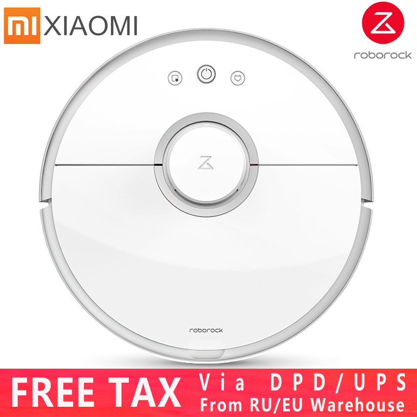 Upgrade Xiaomi 2 Generation Roborock S50 Vacuum Cleaner, Mopping & Sweeping Robot Vacuum Cleaner with Remote App Control S50/S51