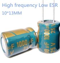 20pcs/lot high frequency low impedance 25v 1000uf 10*13MM aluminum electrolytic capacitor 1000uf 25v 25V1000uf