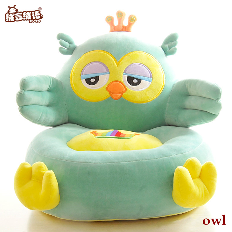 RYRY Cartoon Baby Seat Kawaii Owl/Frog/Duck Cute Ladybird/Tortoise Stuffed Animal Plush Sofa Soft Chair Plush Toys For Children new arrival large about 55cm cartoon animal design plush seat cushion tatami plush toy sofa floor seat w5291