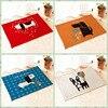 Suede Mat Door Floor Korean Dog 40x60cm Living Room Bedroom Hallway Kitchen Puzzle Carpet Doormat Capacho