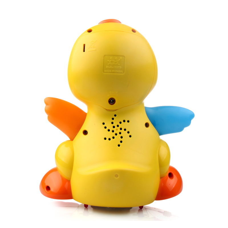 Dancing Duck Battery Operated Toy Figure Action Toy with Flashing Lights Electric Universal Musical Baby Toys 5