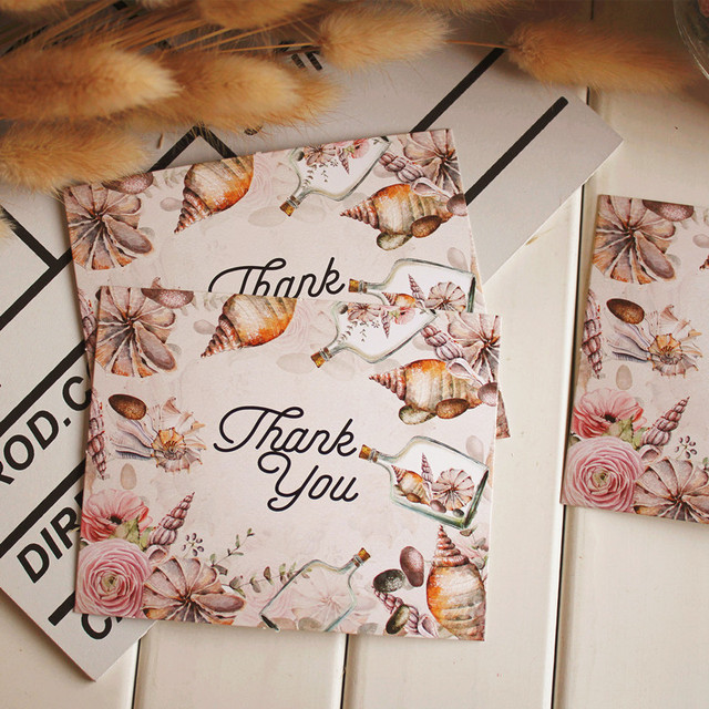 Small message card thanksgiving greeting cards ocean decoration small message card thanksgiving greeting cards ocean decoration little card party gift favors supply m4hsunfo