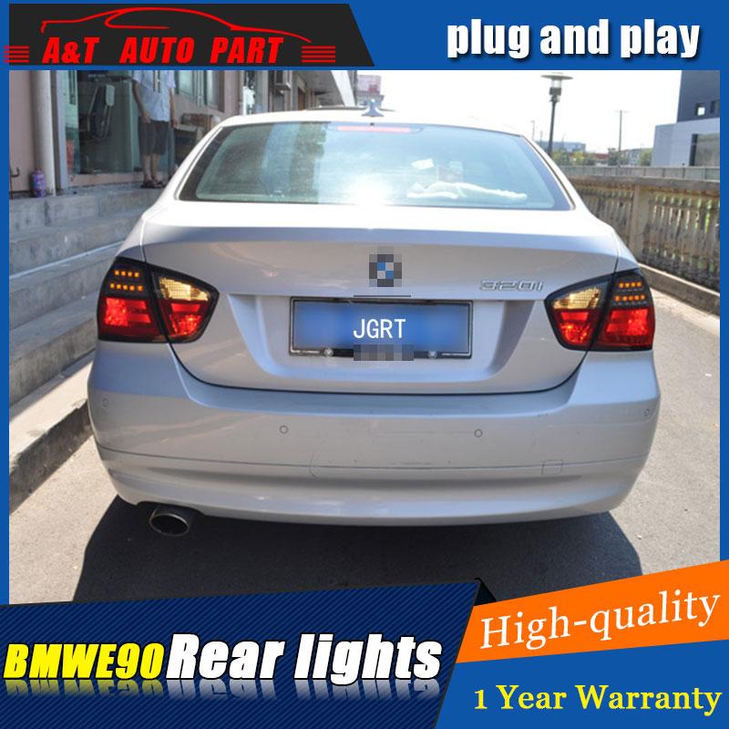 Стайлинга автомобилей Аксессуары для BMW Е90 2005-2008 задние фонари светодиодные задние фары на Е90 задние лампы ДРЛ+Тормозная+Парк+сигнала Сид