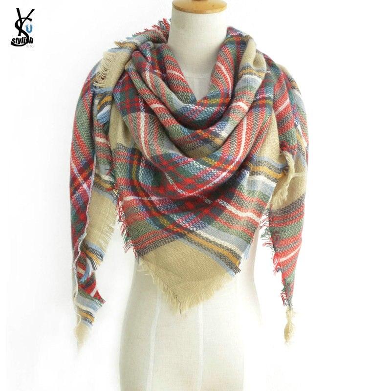 Small Waves Pattern Pashmina Scarf Muffler Ladies Christmas Gift Warm Scarves