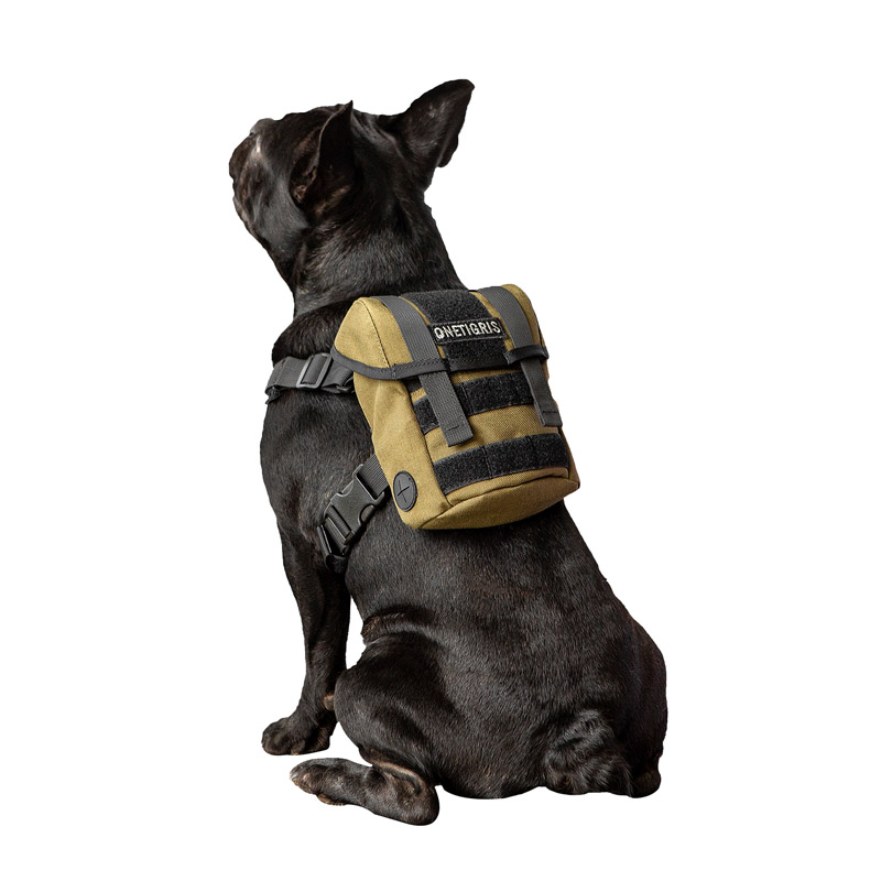 OneTigris EUREKA K9 Backpack Small Dog Treat Tote Pack + Litter Bag Exit For Small Dog Travel Camping