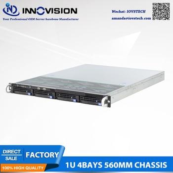 Stable huge storage 4 bays 1u hotswap rack NVR NAS server chassis S15604