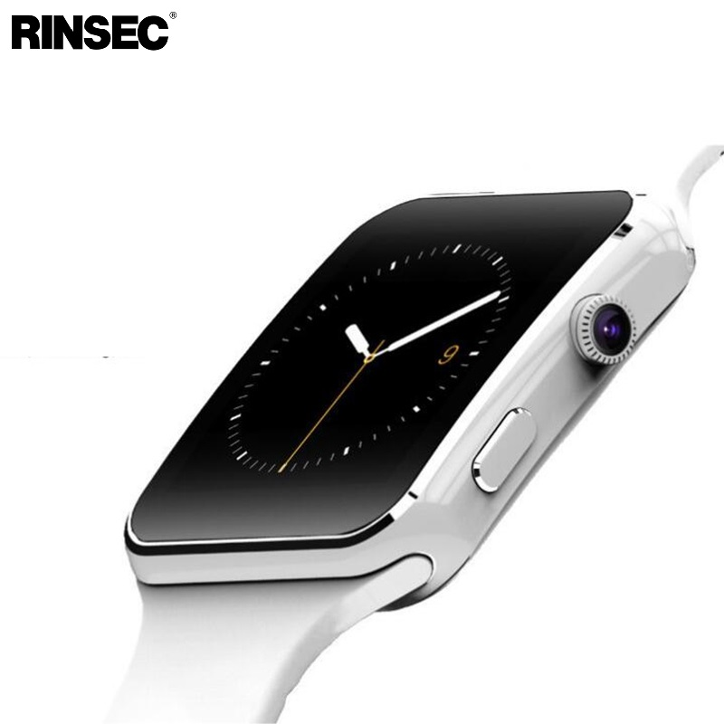 New Arrival Rinsec X6 Smart Watch with Camera Touch Screen Support SIM TF Card for iPhone Xiaomi Android Phone