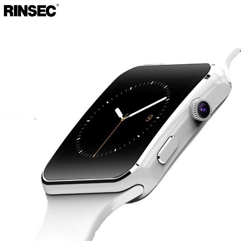 Nova Chegada Relógio Inteligente com Tela Sensível Ao Toque Câmera X6 SIM Apoio TF Cartão do Bluetooth Smartwatch para iPhone Xiaomi Android Phone