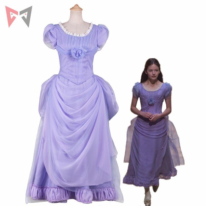 New movie The Nutcracker And The Four Realms cosplay Princess Clara cosplay  dress fancy costume for girl women light blue dress 912b7583a32e
