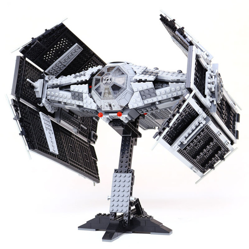 1212pcs Diy Star wars The Rogue One USC Vader TIE Advanced Fighter Sets 10175 Building Blocks Bricks playmobil toys for children dhl lepin 05055 star series military war the rogue one usc vader tie advanced fighter compatible 10175 building bricks block toy