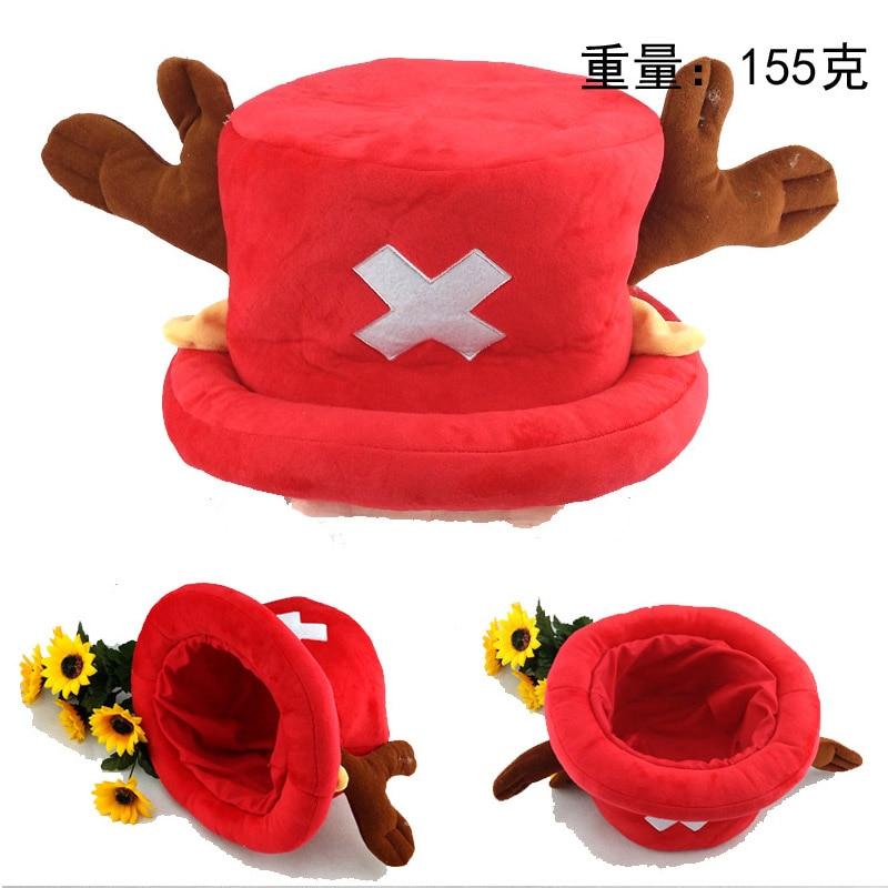 Anime One Piece Colorful Cap Tony Chopper Kawaii Soft Plush Cotton Festival Cos Hat