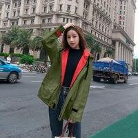 Spring Autumn Coat Trench Women Clothes New Loose Plus SizeBaseball Uniform Casual Drawstring Hooded Windbreaker S 3XL LQ630