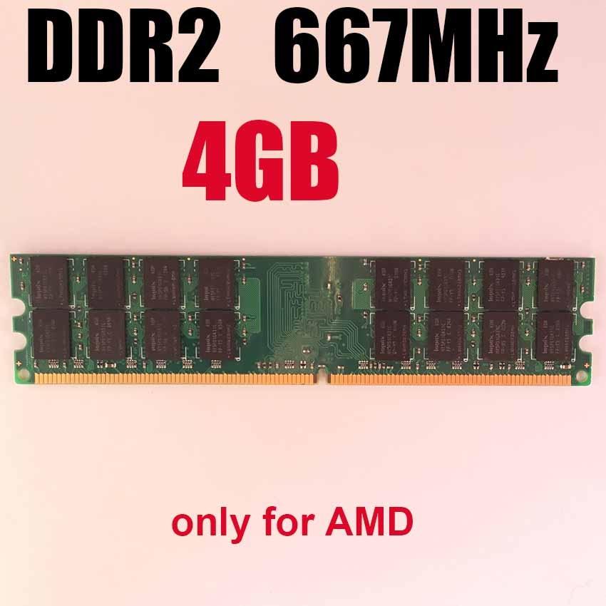 4Gb DDR2 RAM 4Gb 667MHz 667 Ddr2 4gb Memory RAM For Desktop /only For AMD / Memoria RAM 4 Gb Ram Ddr 2 Memory PC2-5300 PC5300