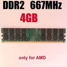 4 Gb DDR2 RAM 4 Gb 667MHz 667 ddr2 4 gb pamięć RAM na pulpit/tylko dla AMD / memoria RAM 4 Gb ram ddr 2 pamięć PC2-5300 PC5300
