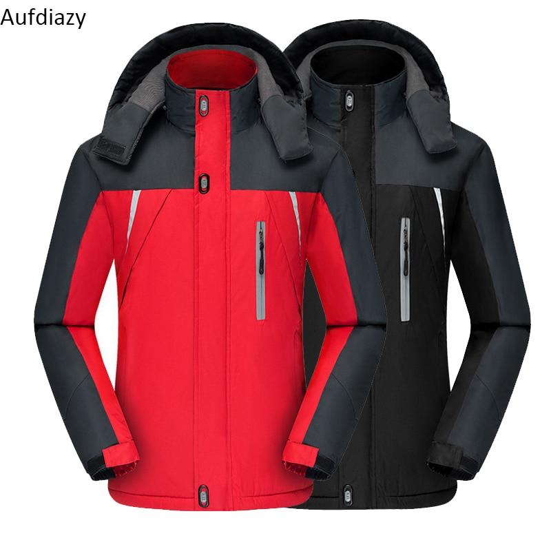 Audiazy Men's Winter Camping Hiking Jacket Male Outdoor Sports Fleece Coat Traveling Fishing Trekking Camping Windbreaker OM047