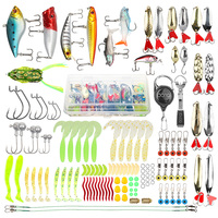 DONQL Mixed Fishing Lure Set Minnow Crankbait Metal Spoon Soft Fishing Baits Kit Hooks With Box Fishing Tackle Accessories