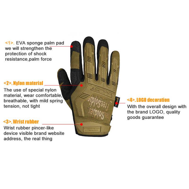 Ücretsiz asker açık spor taktik askeri erkek eldiven kamp tırmanışı için eğitim yürüyüş yarım tam parmak eldiven