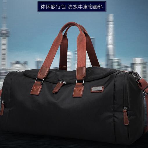 Men Travel Bags Large Capacity Portable Luggage Travel Duffle Bags font b Oxford b font Cloth