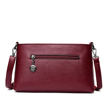 Women's Colorful Leather Bag with Plaid Pattern