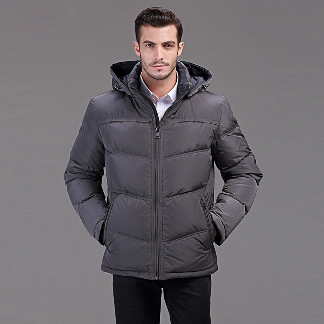 hooded duck down jacket