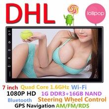 НОВЫЙ Универсальный 7 «2DIN Android 5.1 Стерео GPS Навигации Bluetooth AM/FM/RDS Радио Управление Рулевого Колеса управления Обратный Парковка