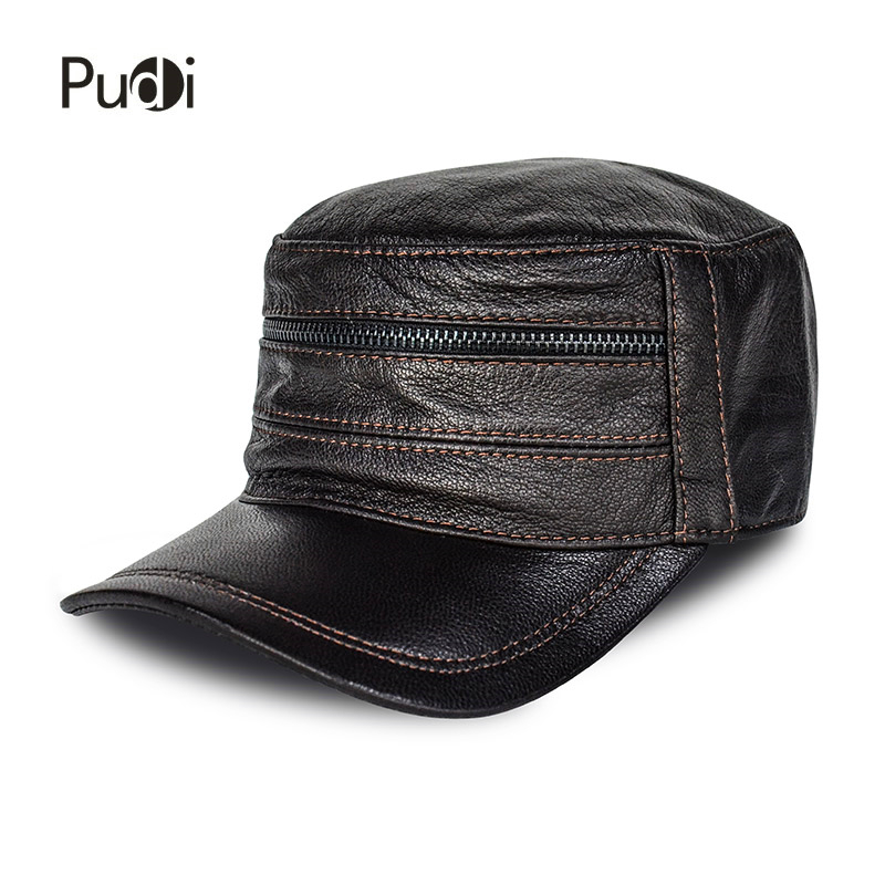Baseball Cap Army Hats-Caps High-Quality Solid Adult 8 HL814 Real-Sheep-Skin Men Men's