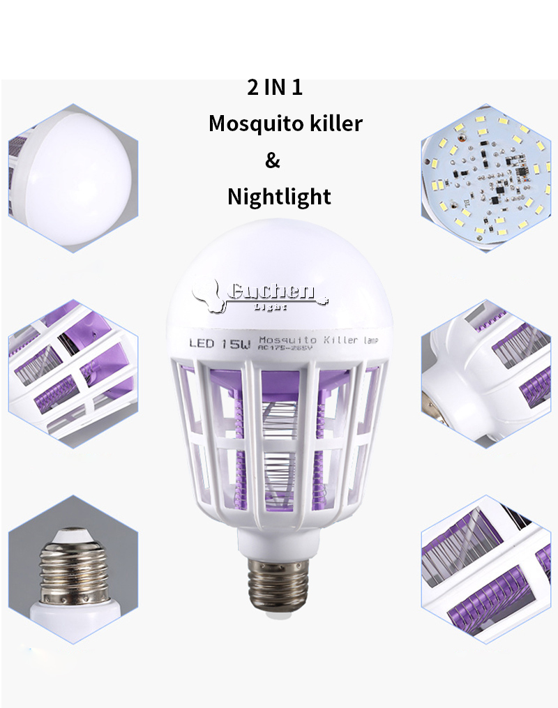 _02  Digital Insect Killer/Mosquito Zapper Lamps Fly Killer E27 LED Bulb Socket Base House Indoor Out of doors Backyard Patio Yard UV HTB1AloTBkCWBuNjy0Faq6xUlXXaP
